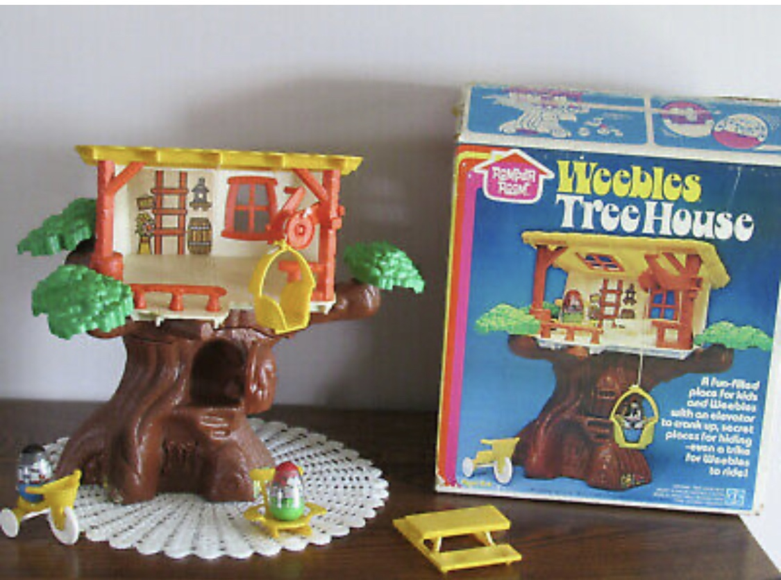 A vintage weebles treehouse from the 80s